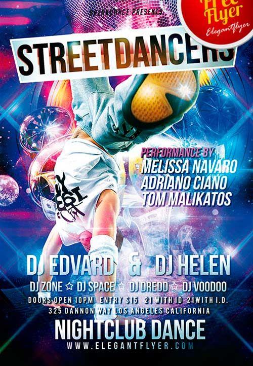 Free Street Dancers Psd Flyer Template Httpfreepsdflyer