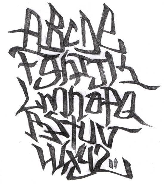20 Tipos de letras para dibujar graffitis y goticas  Tipos de