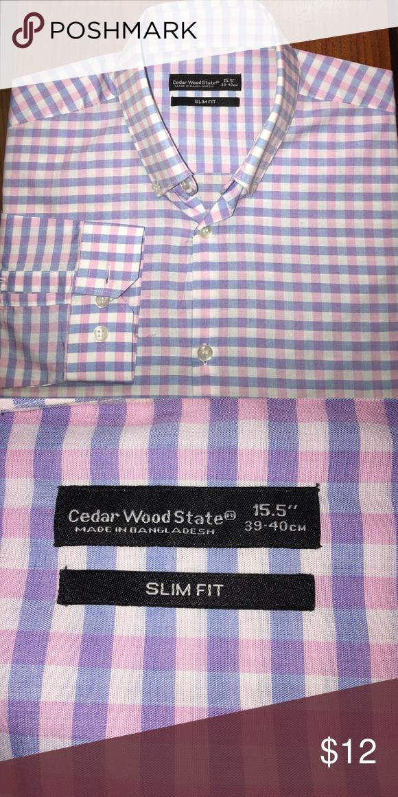 d0c61731 Cedar Wood State slim fit shirt Cedar Wood State slim fit shirt Cedar Wood  State Shirts Casual Button Down Shirts