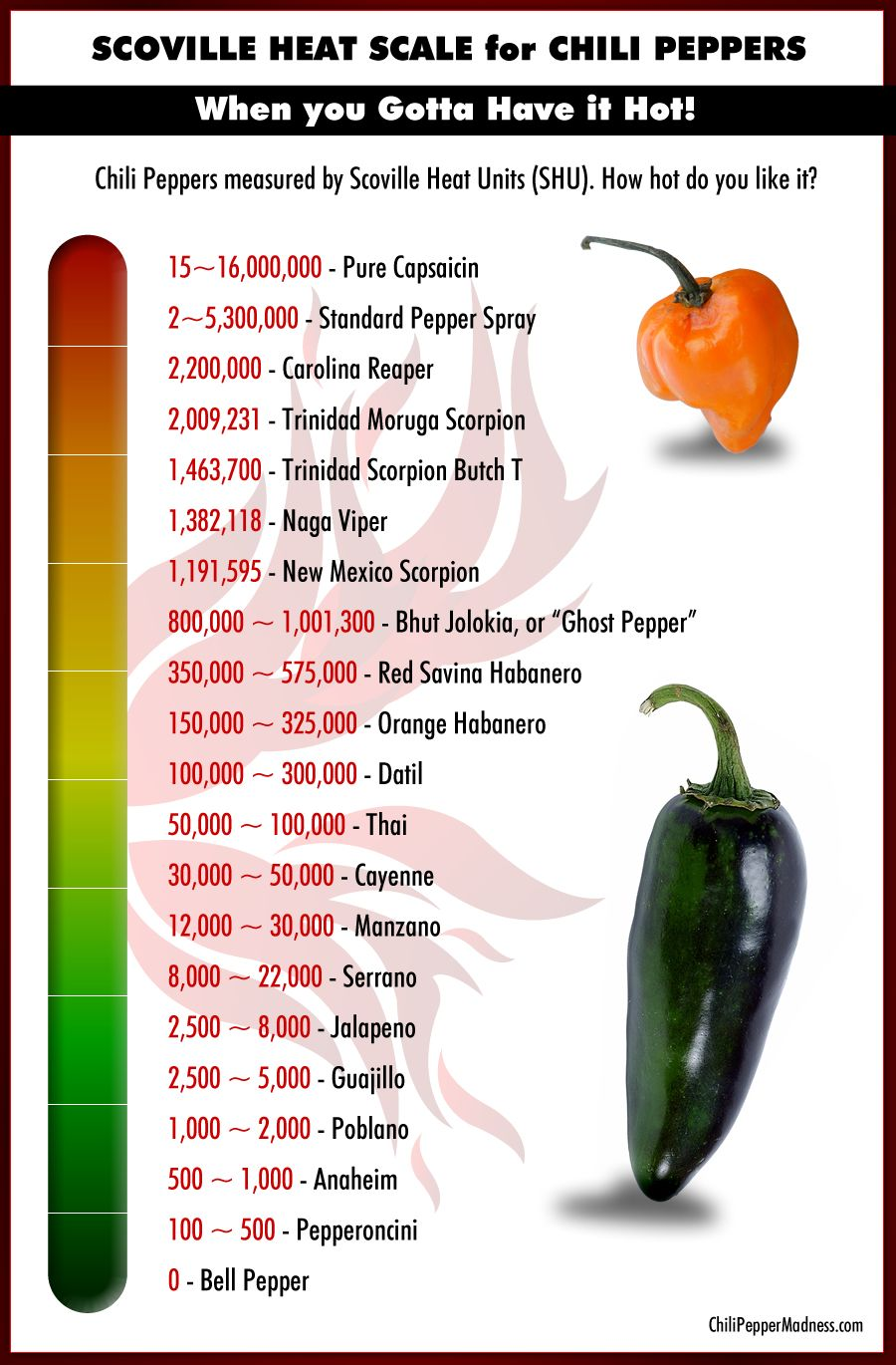 The Scoville Scale Stuffed Peppers Stuffed Hot Peppers Hot Sauce Recipes