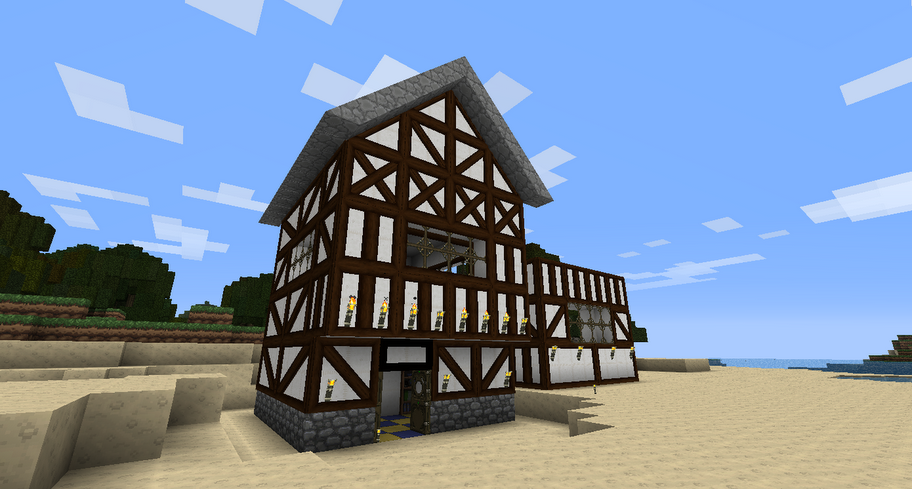 Medieval house Minecraft architecture, Medieval houses