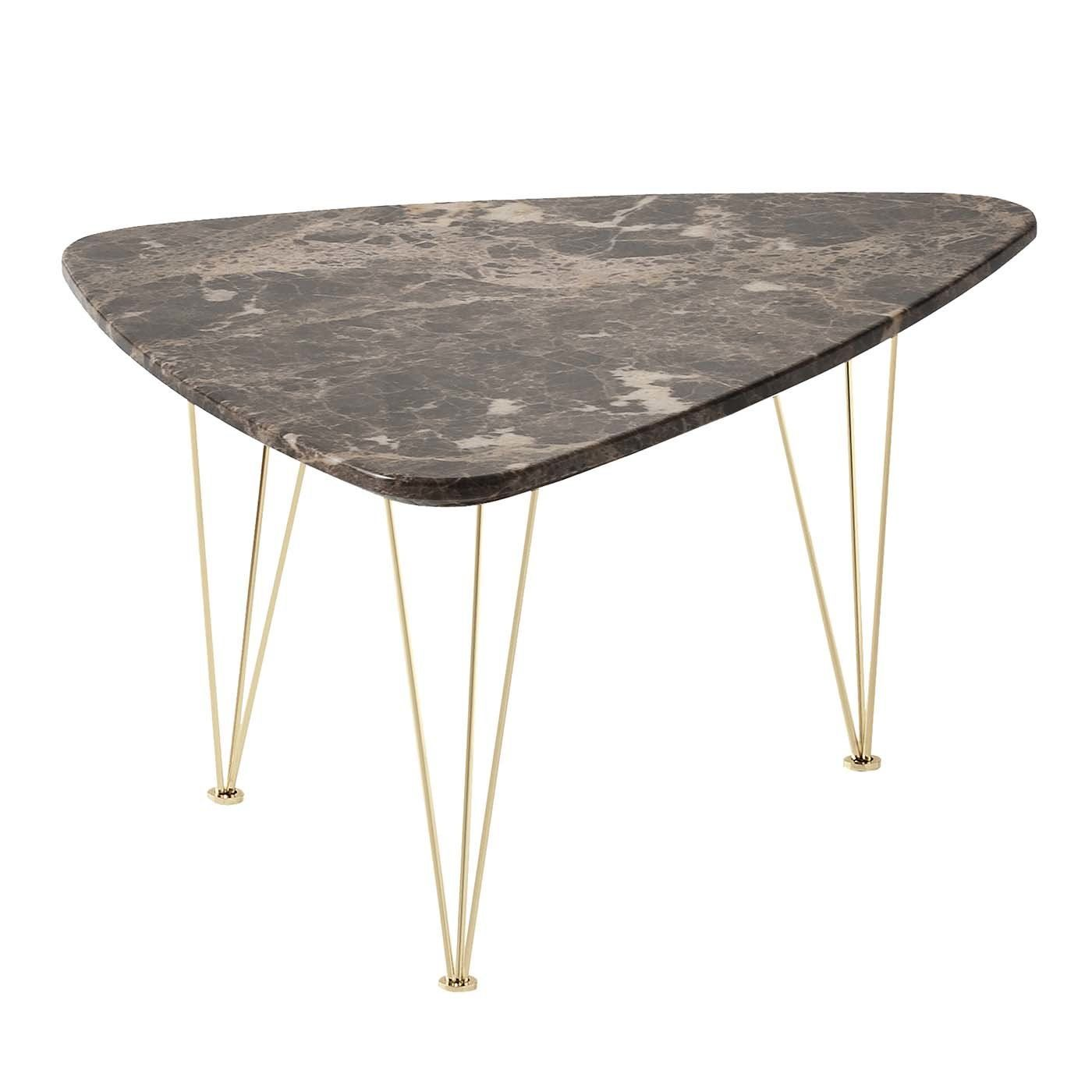 Flamingo Triangular Coffee Table With Gold Legs In 2020 Gold Legs Coffee Table Side Table [ 1400 x 1400 Pixel ]