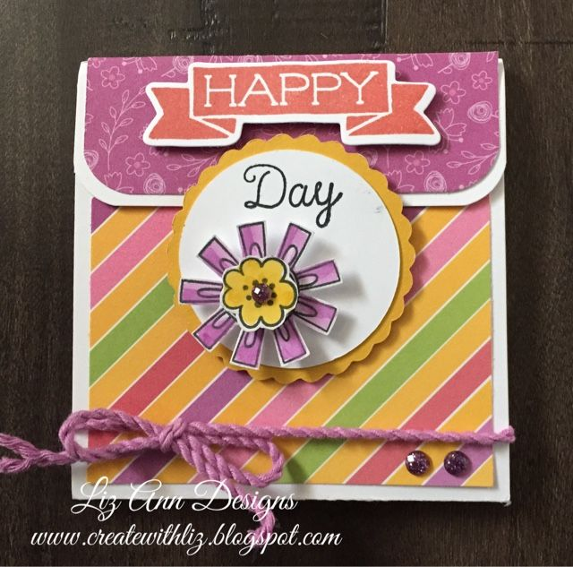 """Create with Liz: """"Happy Day"""" Post it Note Holder"""
