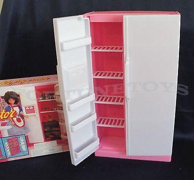 GLORIA DOLL HOUSE SZ FURNITURE Double Doors REFRIGERATOR PLAYSET FOR BARBIE