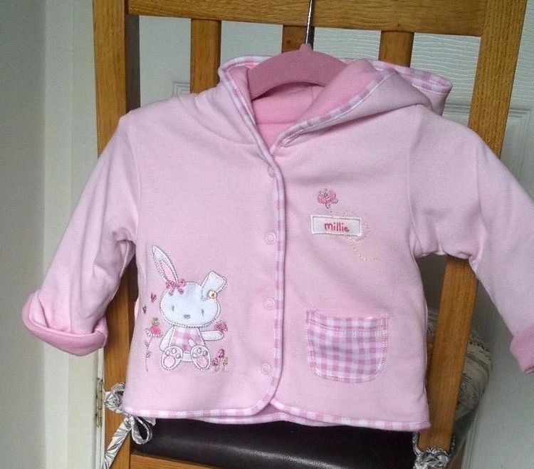 989203fa31bb George Baby Girls Pink Hooded Pram Coat 0-3 months  George  pramcoat