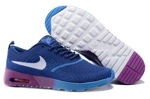 2015 Nikes Air Max Thea Flyknit navy purple women running