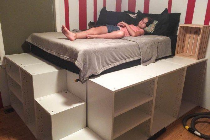 Ikea Hack Platform Bed Diy Diy Platform Bed Ikea Platform Bed