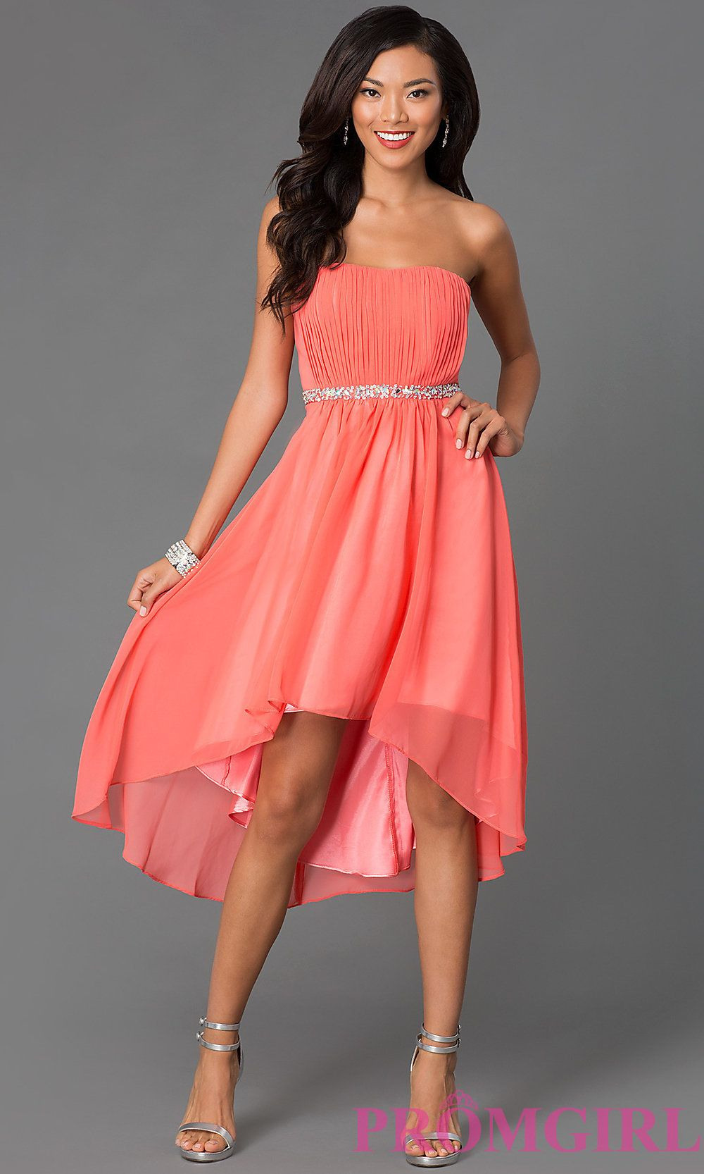 Looks - Prom coral dresses high low video