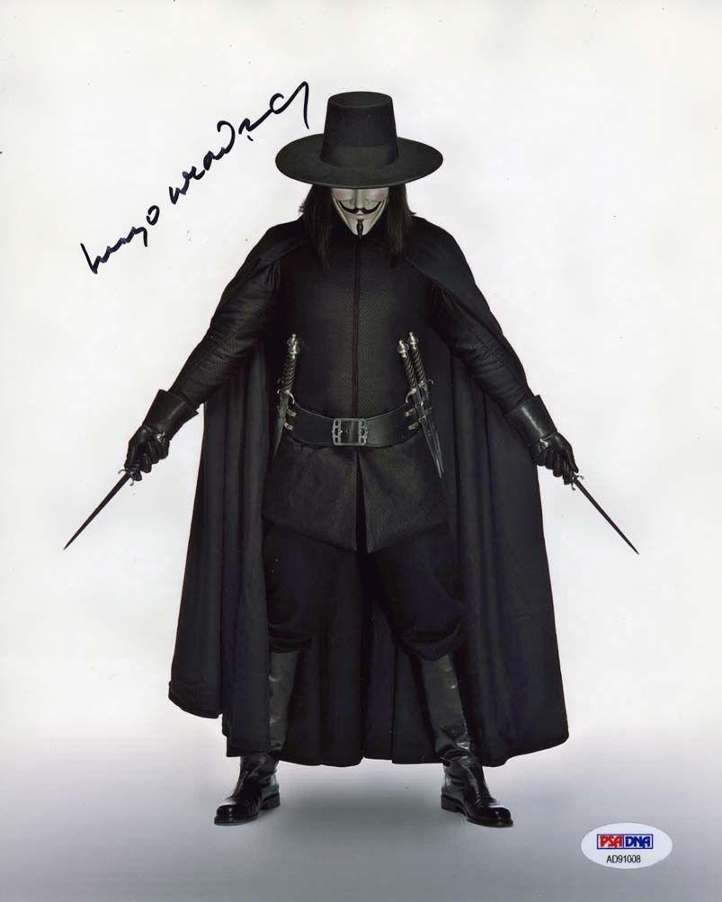 Hugo Weaving V For Vendetta Signed 8x10 Photo Certified Authentic Psa Dna Coa V For Vendetta V For Vendetta Costume Guy Fawkes