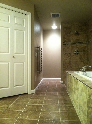 Bellevue Master bathroom remodel with towel warmer by http://www.cbdremodels.com