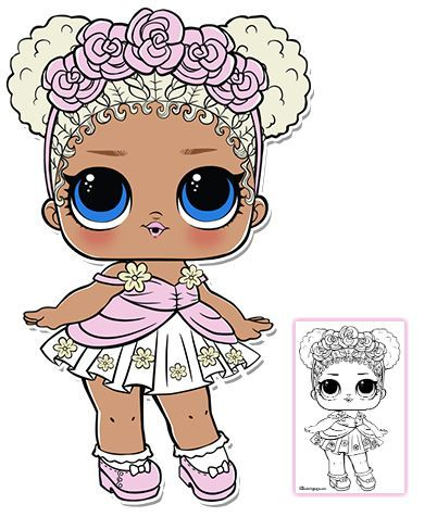 Flower Child Series 3 L O L Surprise Doll Coloring Page Lol