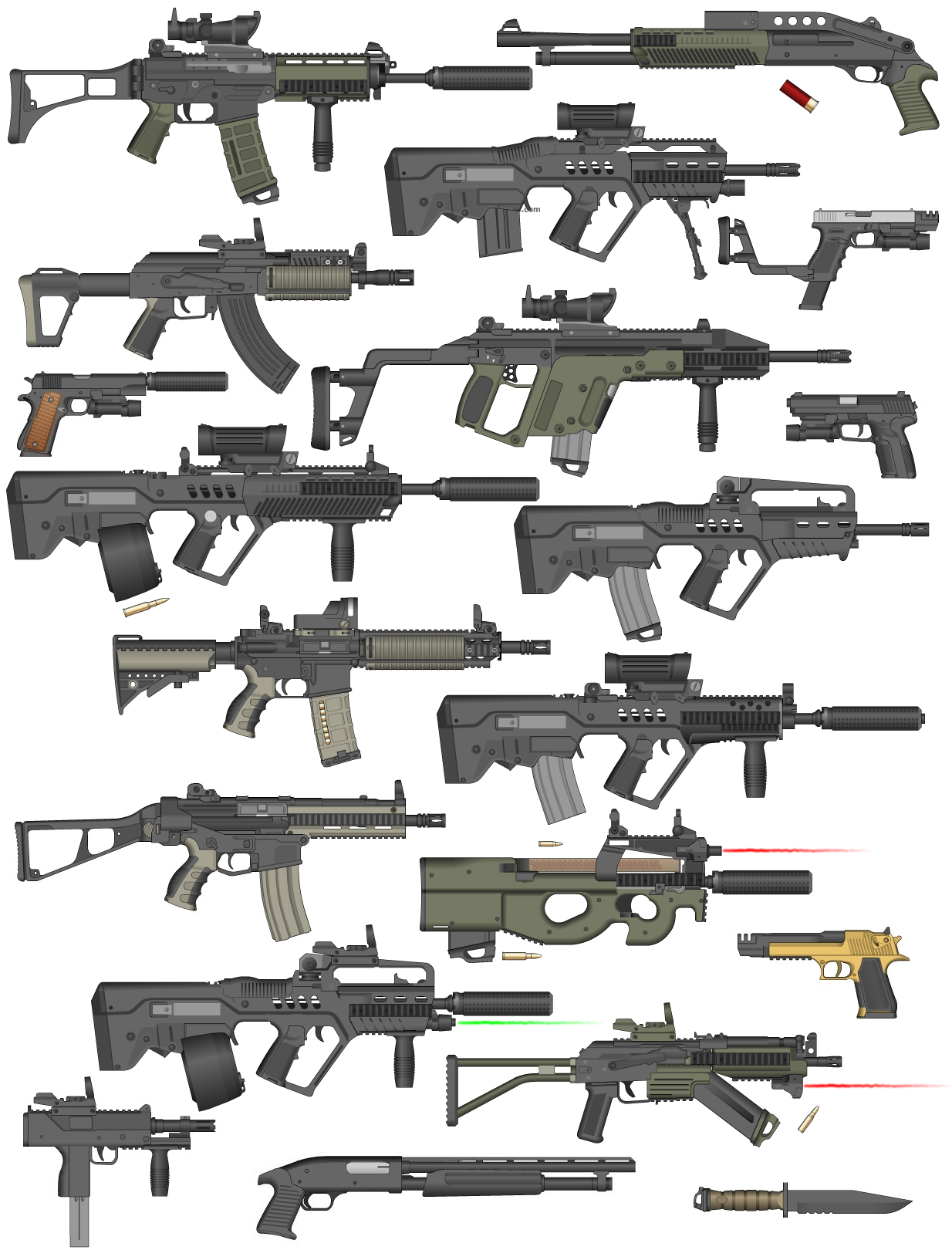 My Armory by pedrokomando on deviantART | Firearms & Ranged Weapons ...