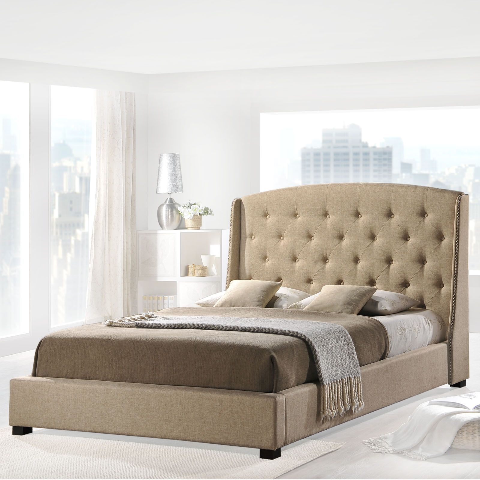 Add a #PopOfColor to your #SpringDecor with a gorgeous new bed from Beyond Stores. #homedecor #beyondstores