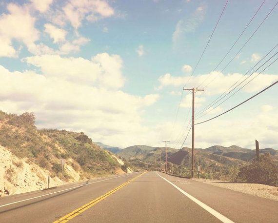 California Photography, Road Photography, Highway Photo, California Print, Wall…