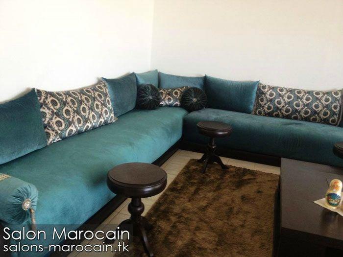 Salon marocain bleu roi exceptionnel - Salon marocain moderne | deco ...