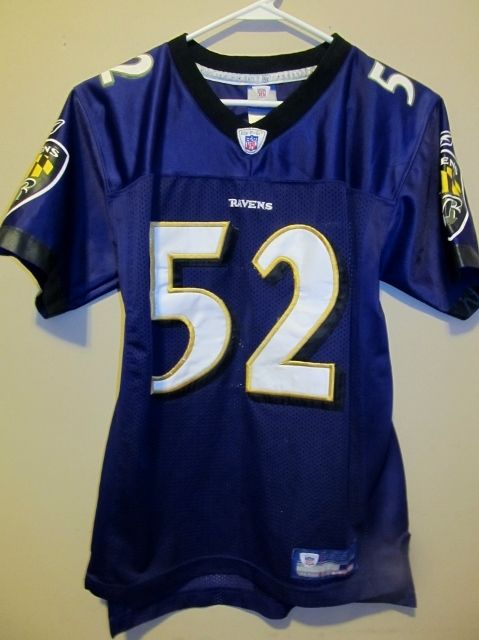 RAY LEWIS Authentic Reebok Jersey Baltimore Ravens Sewn Stitched Youth  Large NFL - Football-NFL 2d0b8ed03
