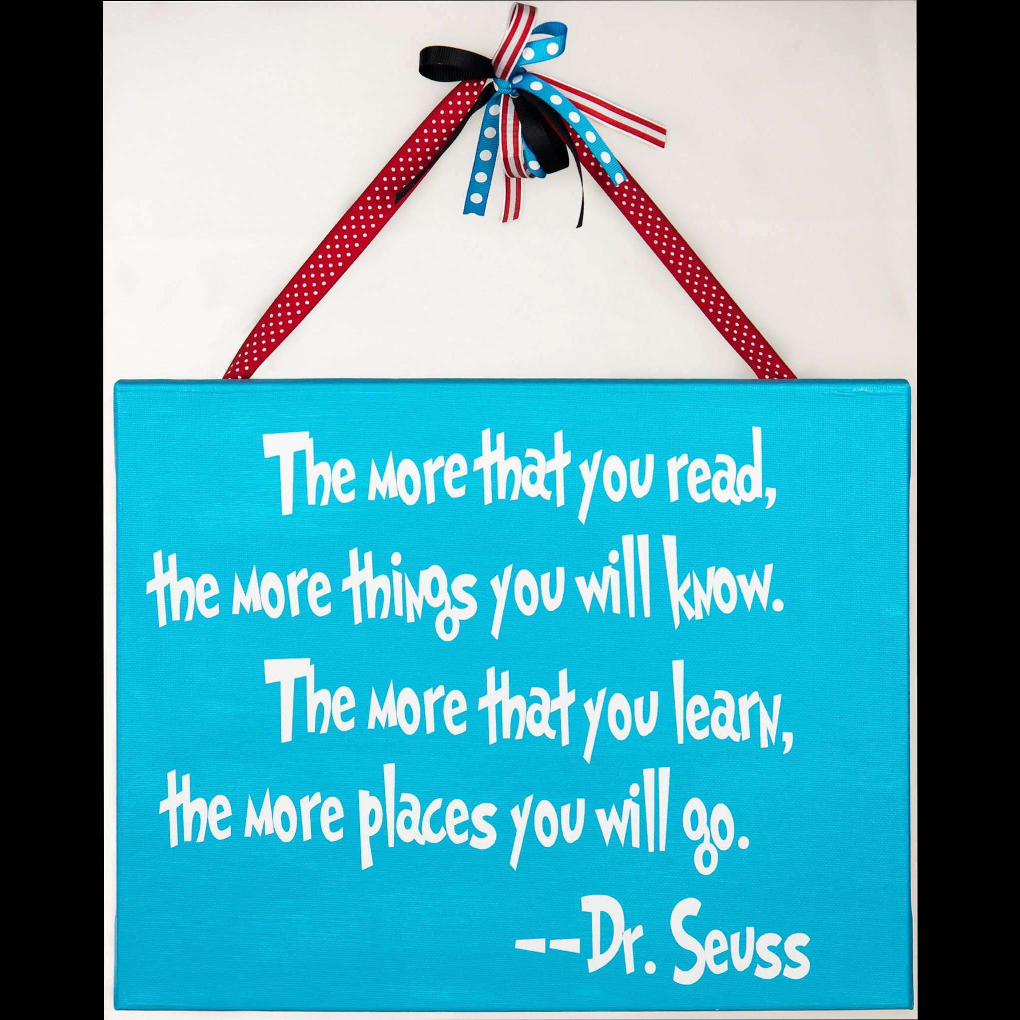 Dr Seuss Quotes Love Quotes On Canvas Original Painting 11x14: Dr. Seuss Quote (vinyl) On A Painted 11x14 Canvas I Made