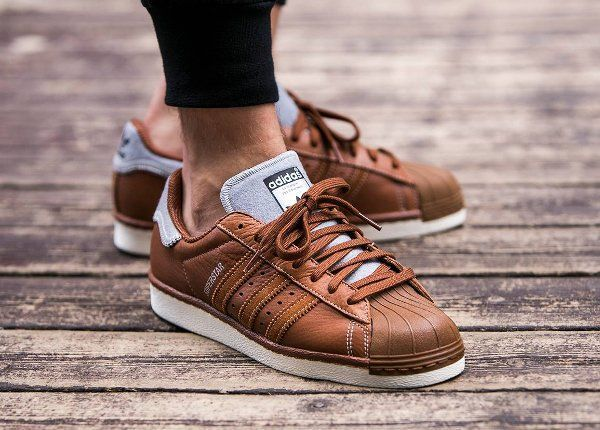 adidas superstar marron homme
