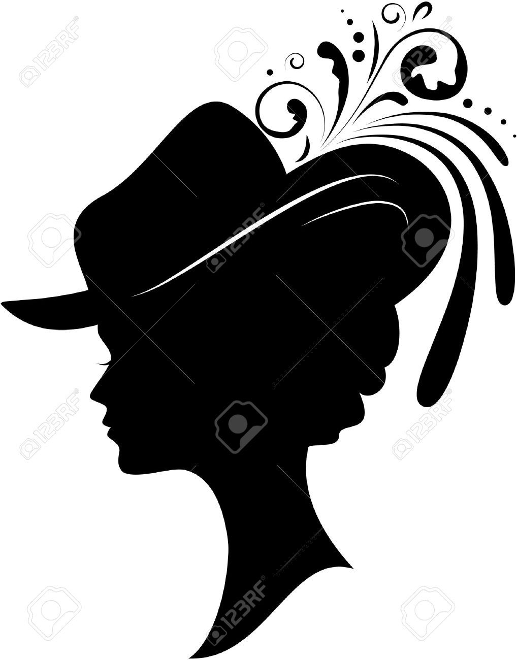 Image result for woman with hat silhouette | Frau mit hut ...
