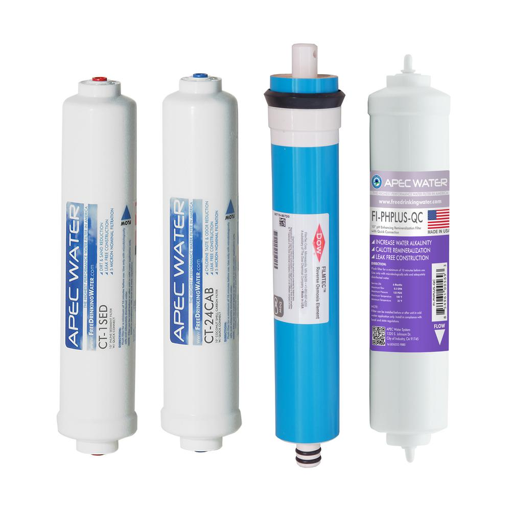 Apec Water Systems Apec Complete Filter Set For Ultimate Ro Ctop