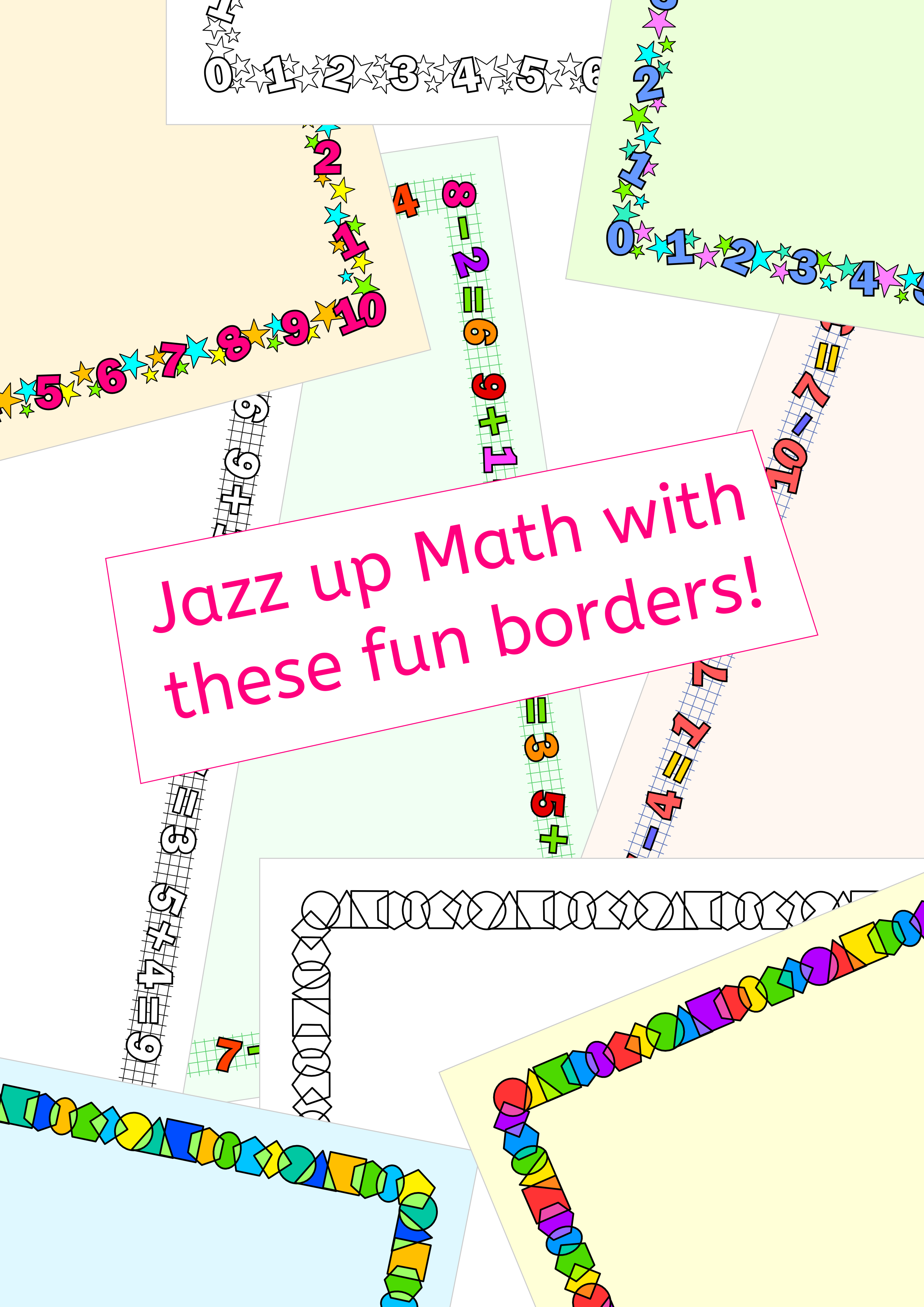 Math Borders frames for worksheets/task cards/activities | Pinterest ...