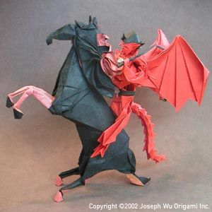 nightmare and rider origami art pinterest origami