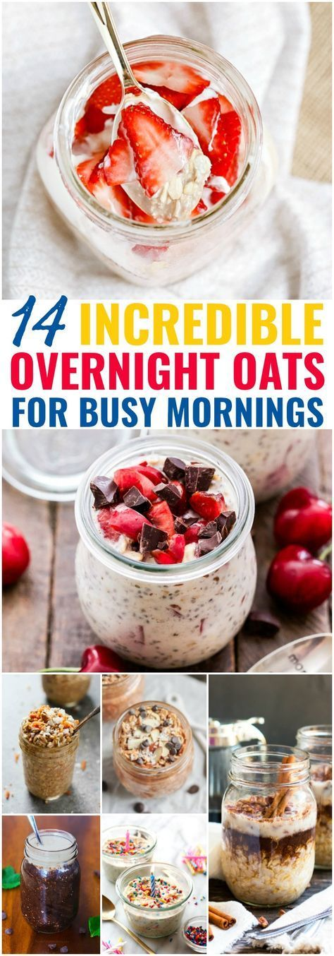 14 Incredible Overnight Oats Perfect for Busy Mornings -   15 healthy recipes On A Budget breakfast ideas