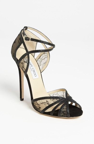 f7986b7952e Jimmy Choo Fitch Sandals in Black as seen on Nina Dobrev
