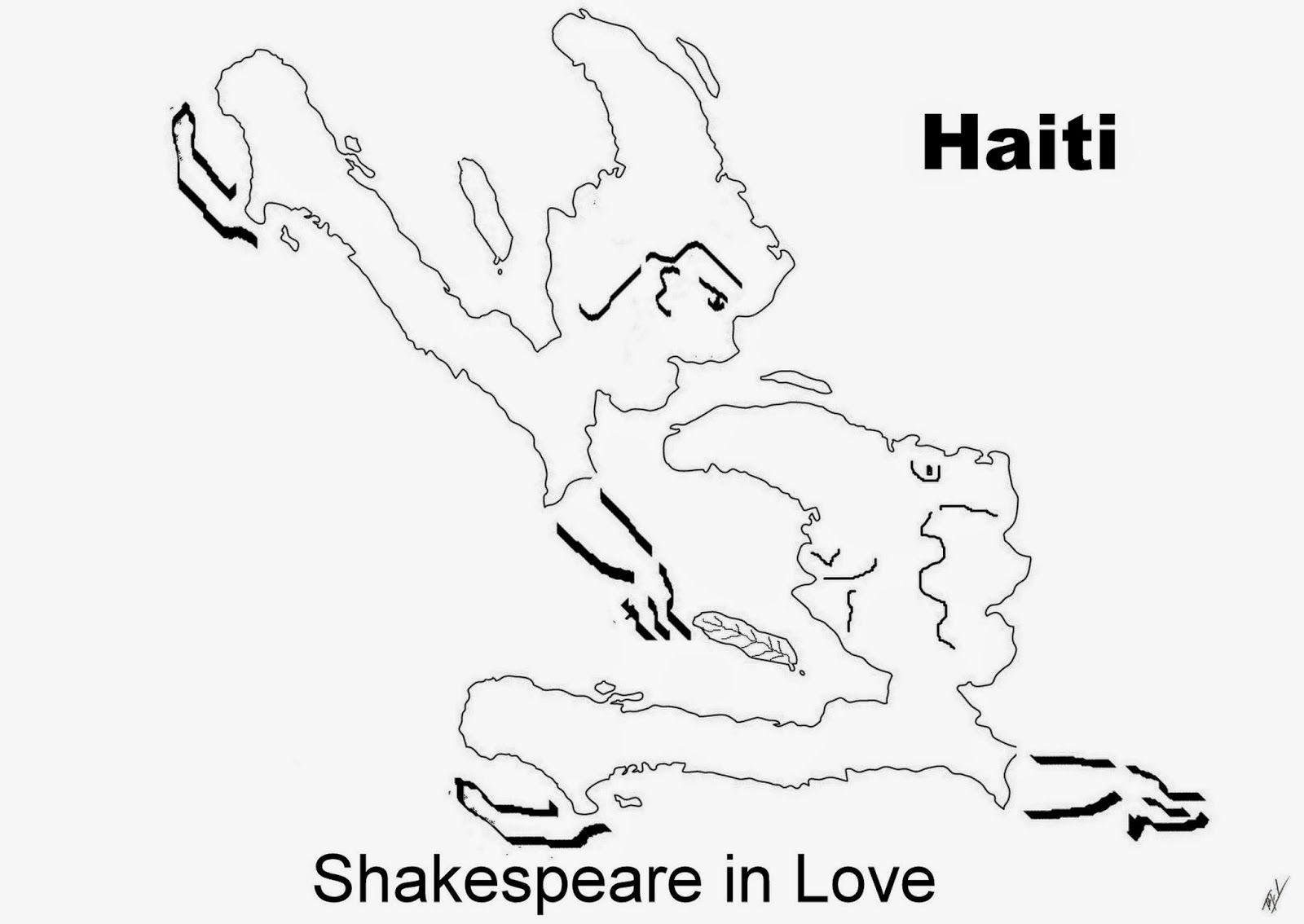 A funny map of Haiti