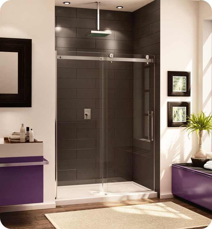 Fleurco Nov160 Novara In Line 60 Door And Panel Shower Sliding Glass Door Shower Doors Bathroom Design