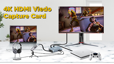 Tobo Video Capture Card 4k Uhd Capture Device For Live Streaming Of Video Game Recording Storage Video Conferenc Video Capture Streaming Video Conferencing