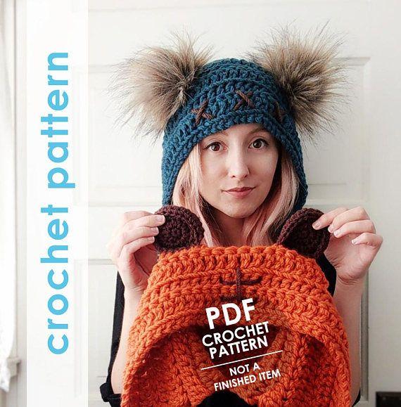 Ewok Hat: Star Wars Crochet Pattern, Crochet Ewok Hat, Bear Ears Hat