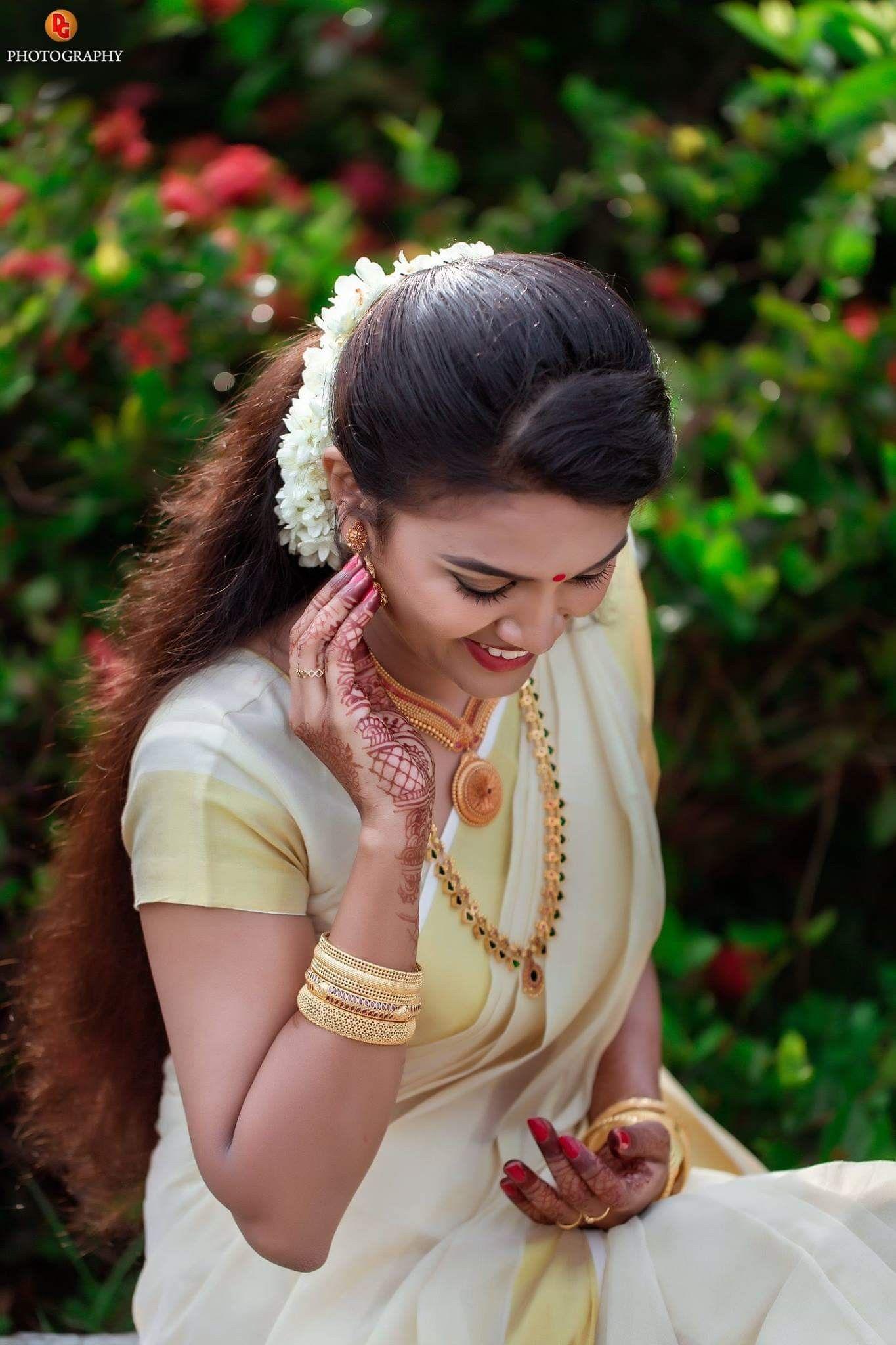 Wedding Kerala Bride Bridal Sarees South Indian Indian Wedding Bride