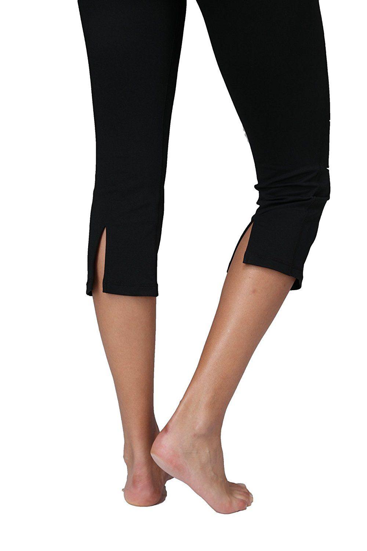 5ec095940c23d Queen Yoga Women's Medium-rise Capri Tights Pants Inner Pocket Price: $6.99