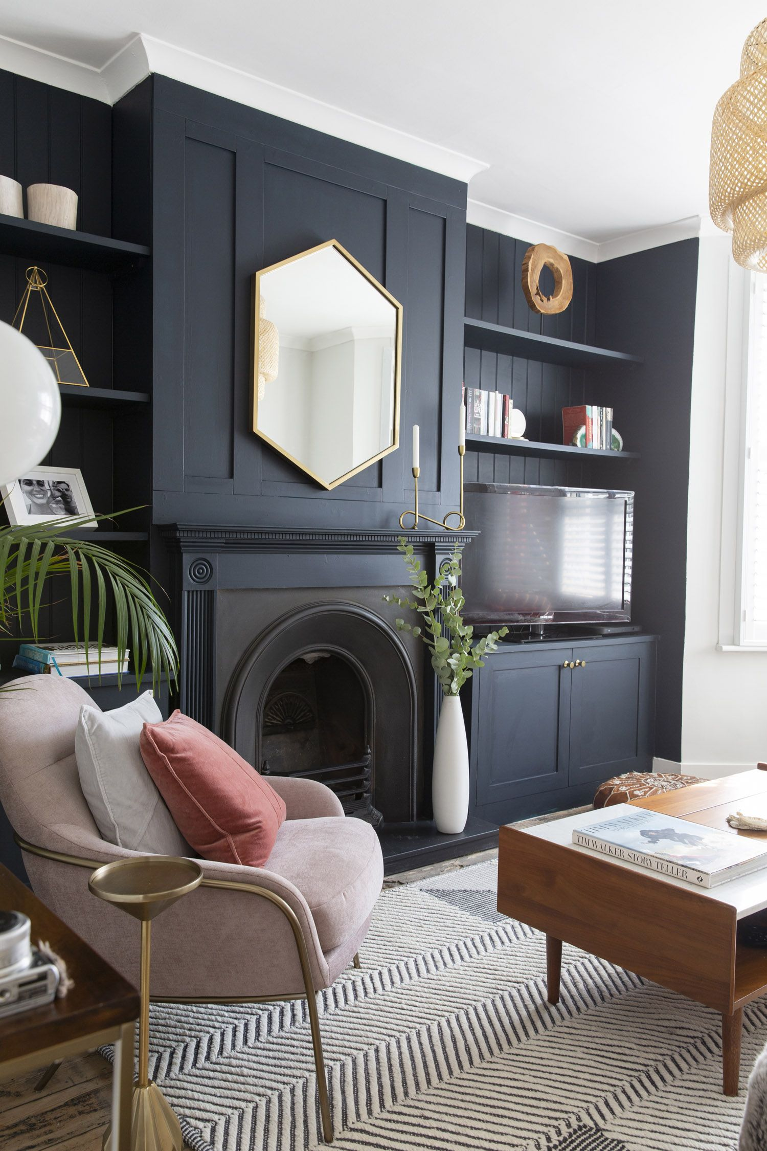 Design Crew A Living Room Renovation With The Layover Life In Kingston England Front Main Living Room Renovation Victorian Living Room Dark Living Rooms Living room ideas england
