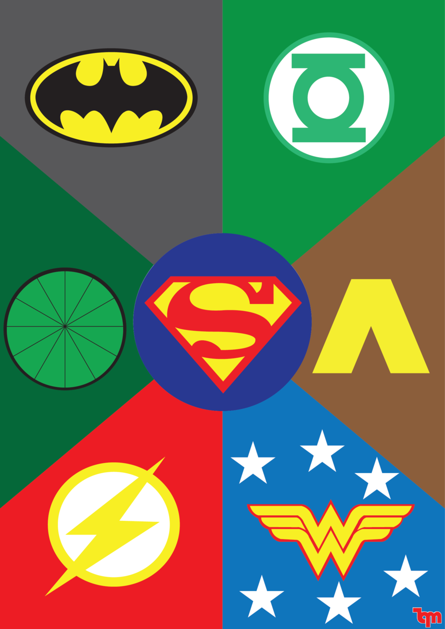 DC Comics Justice League Birthday Party Game Wall Decoration