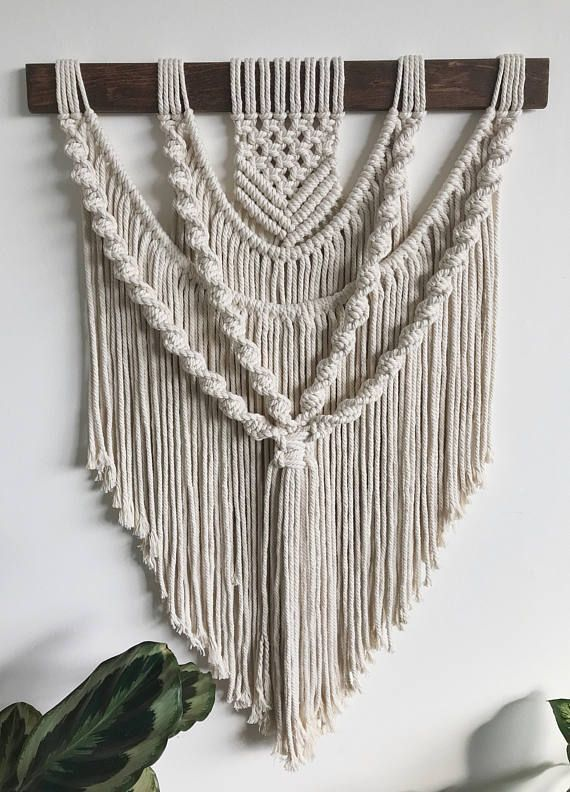 Modern macrame wallhanging macrame wallhanging bohemian - Theresa Mayer #floatingshelves