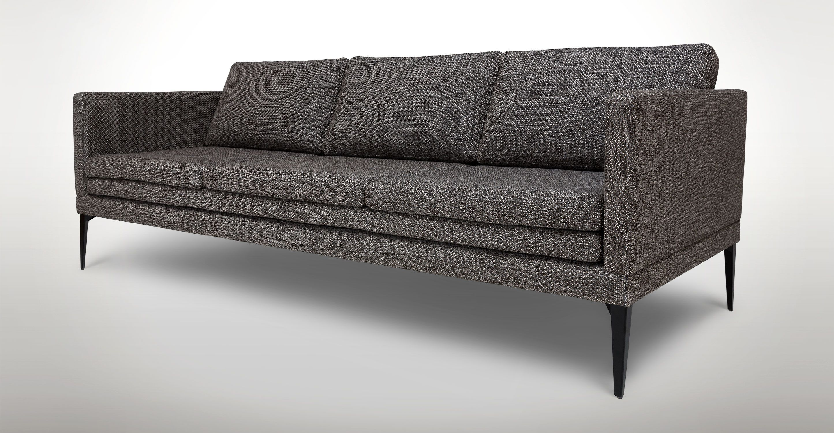 Triplo Meteorite Gray Sofa | Apartment | Gray sofa, Sofa furniture, Sofa