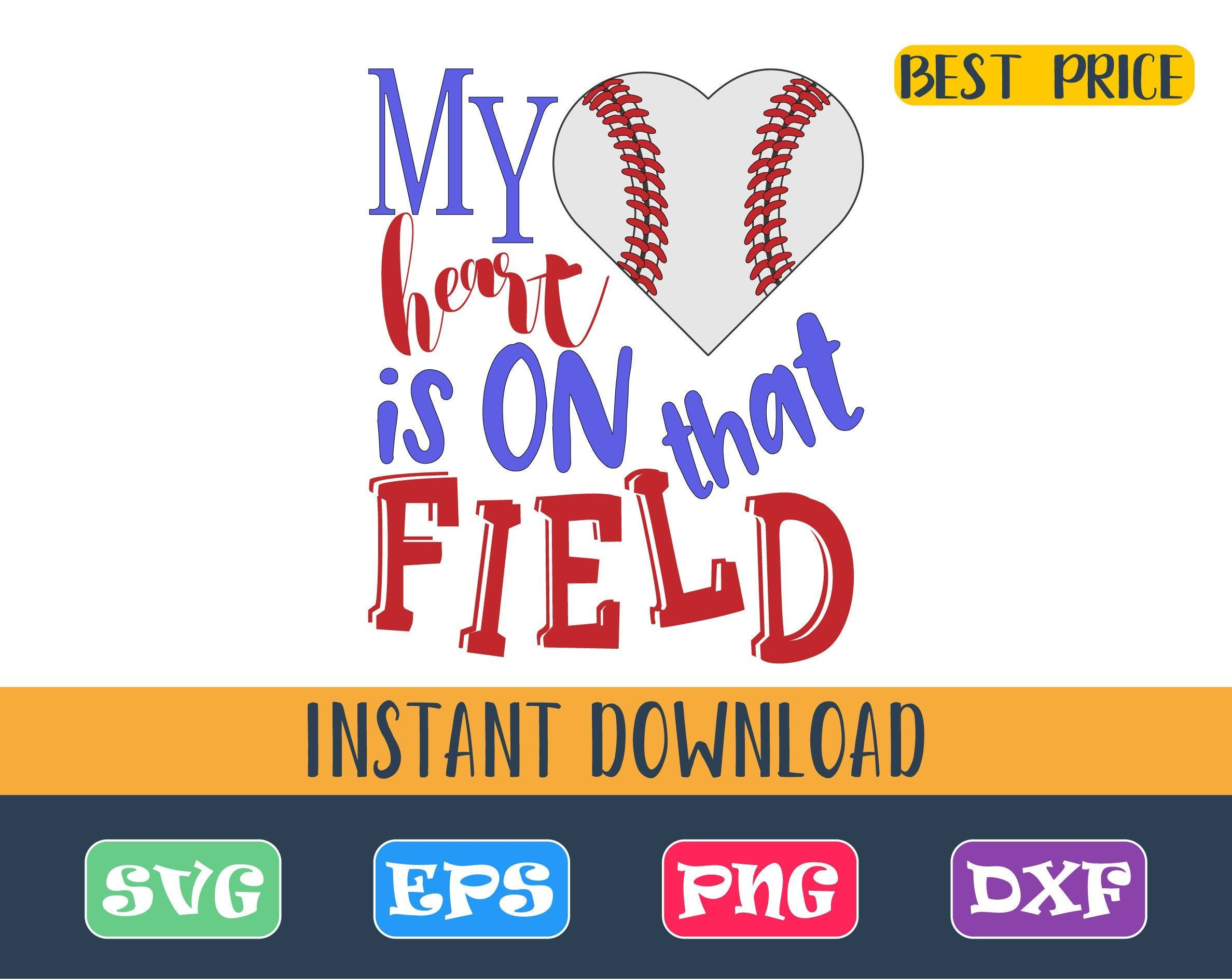 Download My heart is on that field baseball Svg, Love baseball Svg ...