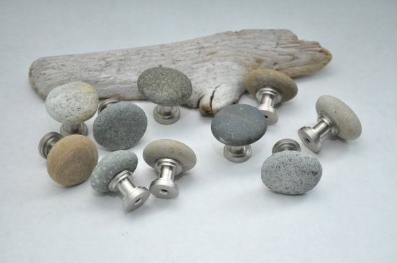 Nice Ready To Ship Beach U0026 River Rock Cabinet Knobs By Aimeesrockworks