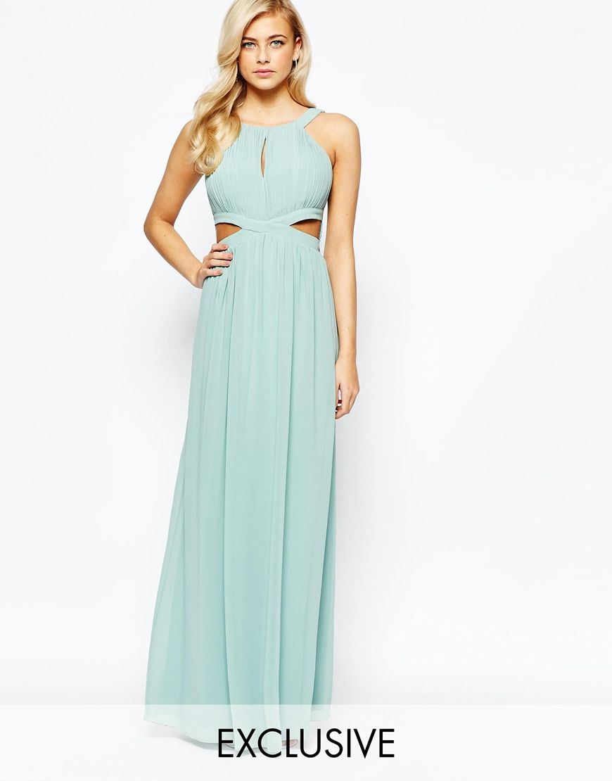 Little Mistress Chiffon Maxi Dress With Cut Outs | Clothes ...