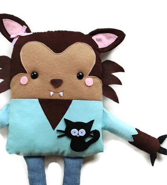 Sewing Pattern - Toy Werewolf Doll Sewing Pattern Holiday Halloween ...