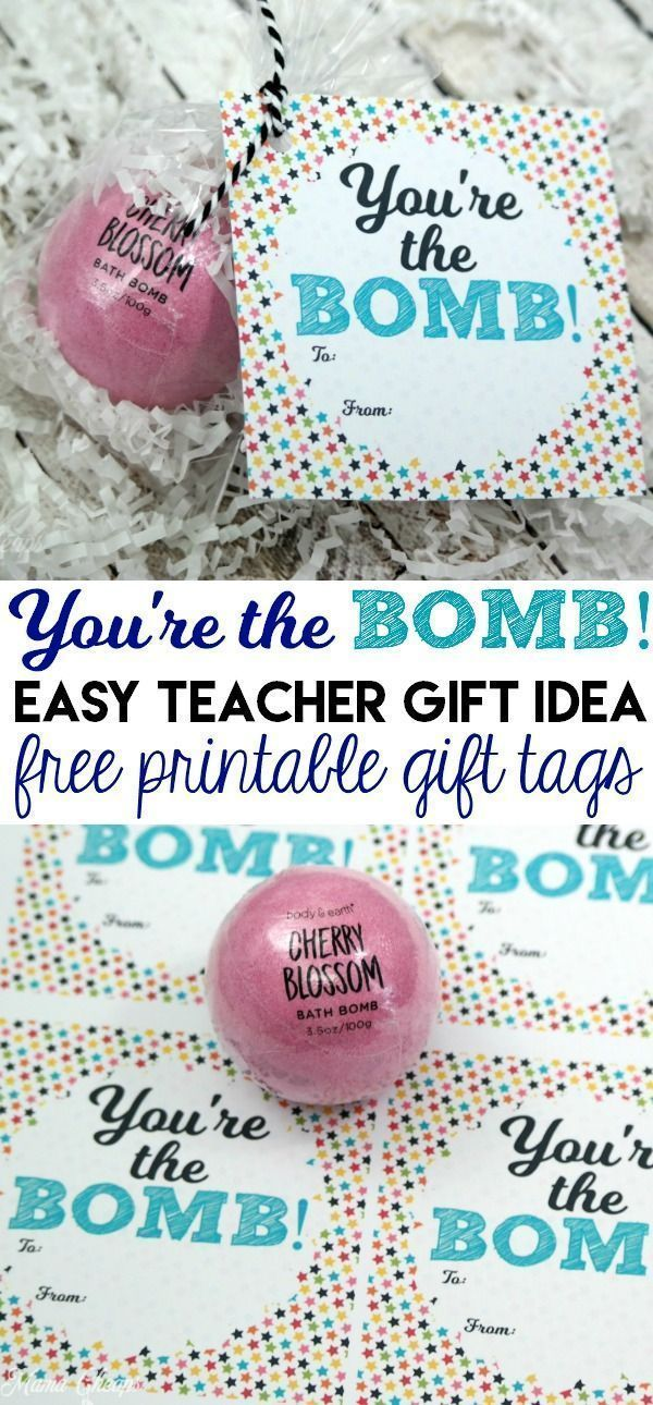 You're the Bomb (Bath Bomb Gift Idea) Free Printable Tag | Mama Cheaps®