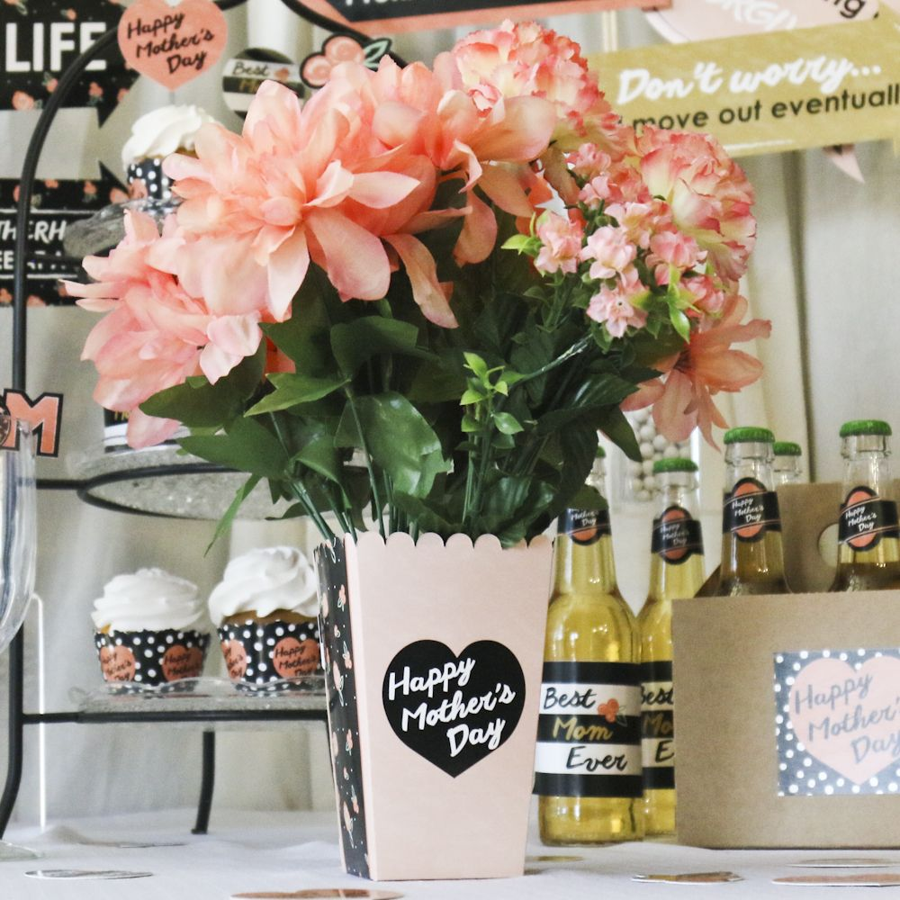 Best mom ever personalized mothers day party popcorn