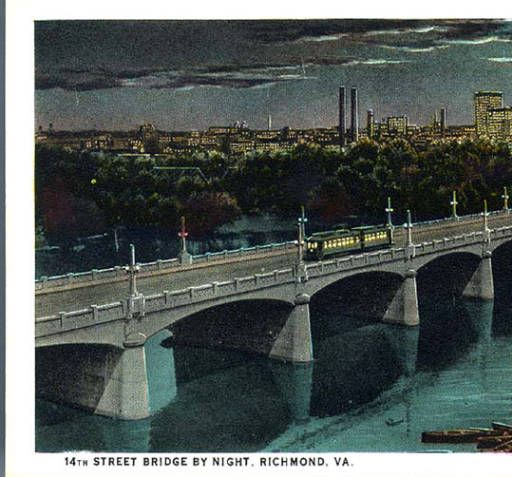 14th Street Bridge By Night Richmond Va Rarely Seen Richmond Richmond Va Richmond Virginia