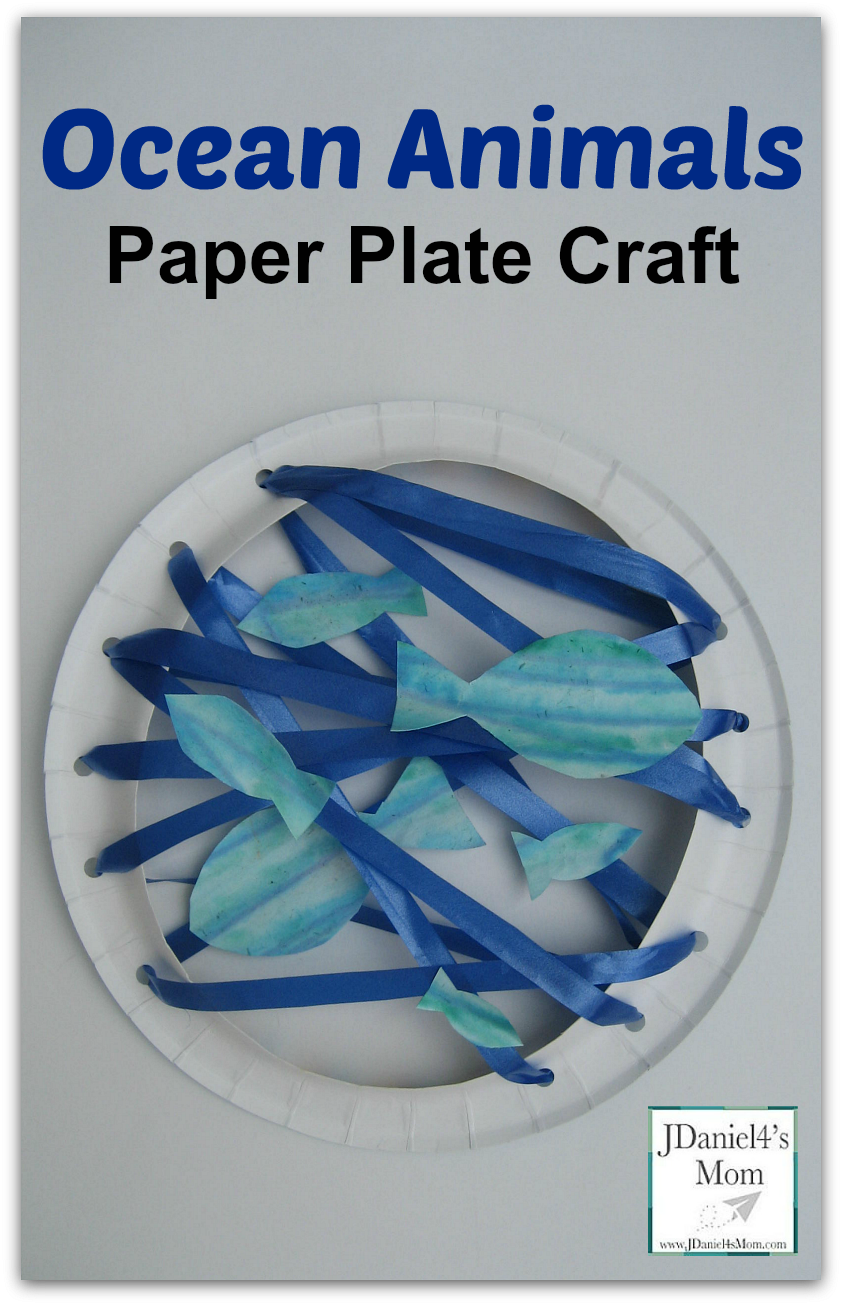 Ocean Animals-Paper Plate Craft Fine Motor Work ( Painting Threading and Gluing)  sc 1 st  Pinterest & Ocean Animals-Paper Plate Craft Fine Motor Work ( Painting ...