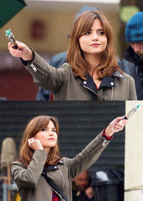 Photo of medico che ha dedicato il blog – amywiliams: Jenna Coleman sul set – Doctor Who …