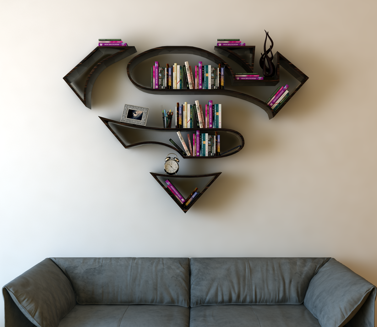 Superman Room Ideas Your Walls Will Love These Superhero 3d Book Shelf Ideas