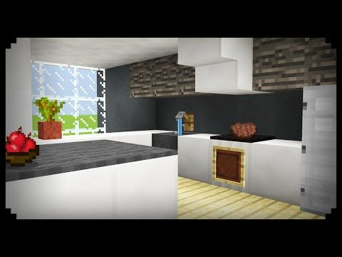 Minecraft How To Make A Kitchen Youtube Minecraft Kitchen Ideas Minecraft Room Minecraft Modern