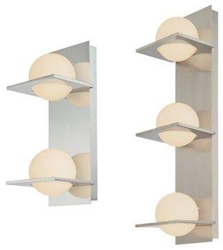Bathroom Vanity Lighting Lumens orbit vertical bath bar - contemporary - bathroom lighting and